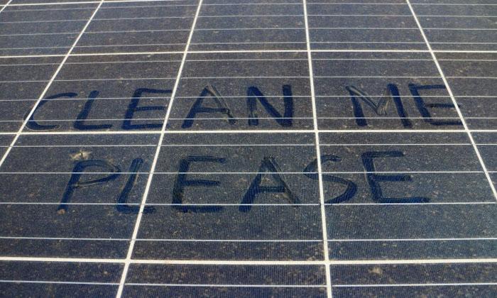 vệ sinh pin mặt trời do ninh thuận ít mưa